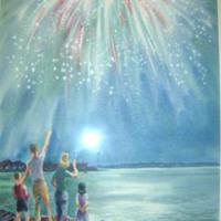 Fireworks Display, Bristol, RI  (Holidays)